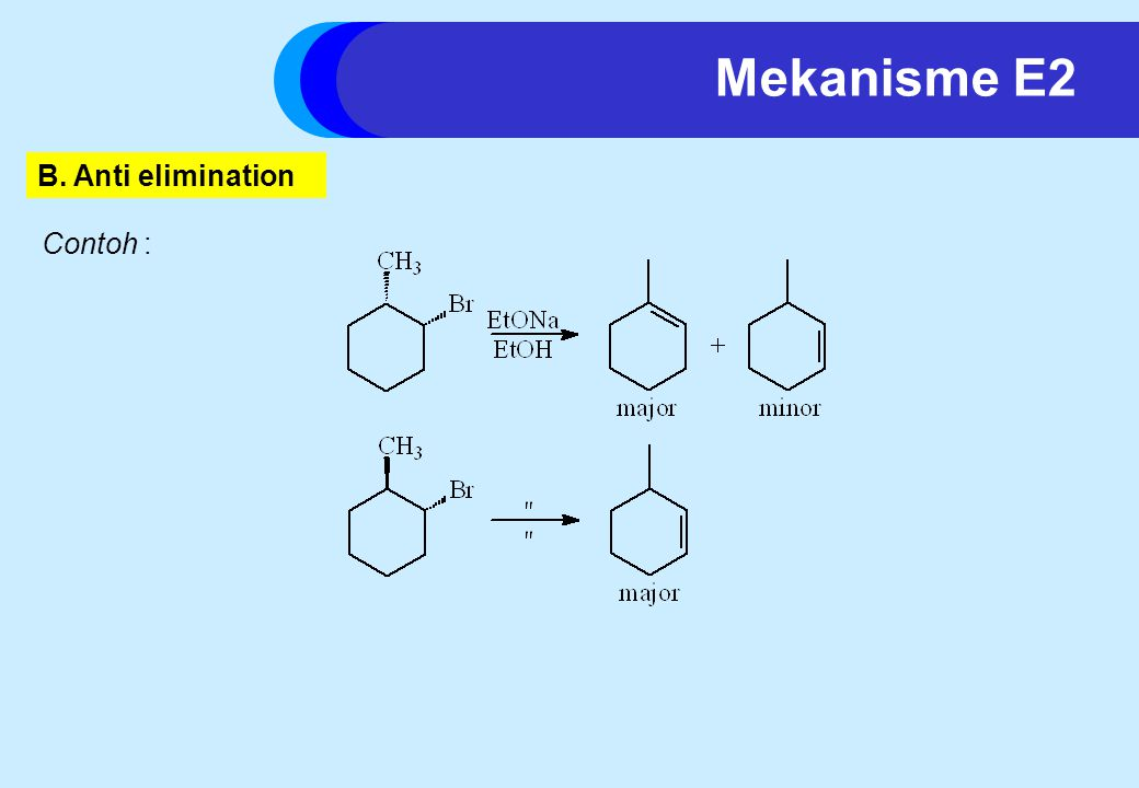 Mekanisme E2 B. Anti elimination Contoh :