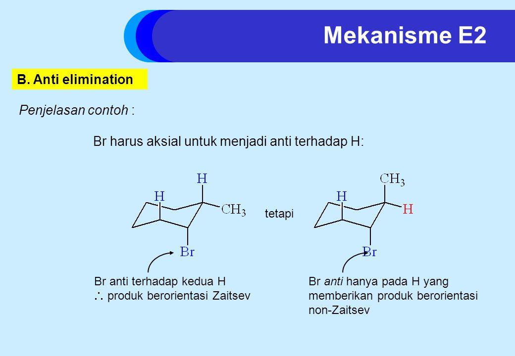 Mekanisme E2 B. Anti elimination Penjelasan contoh :