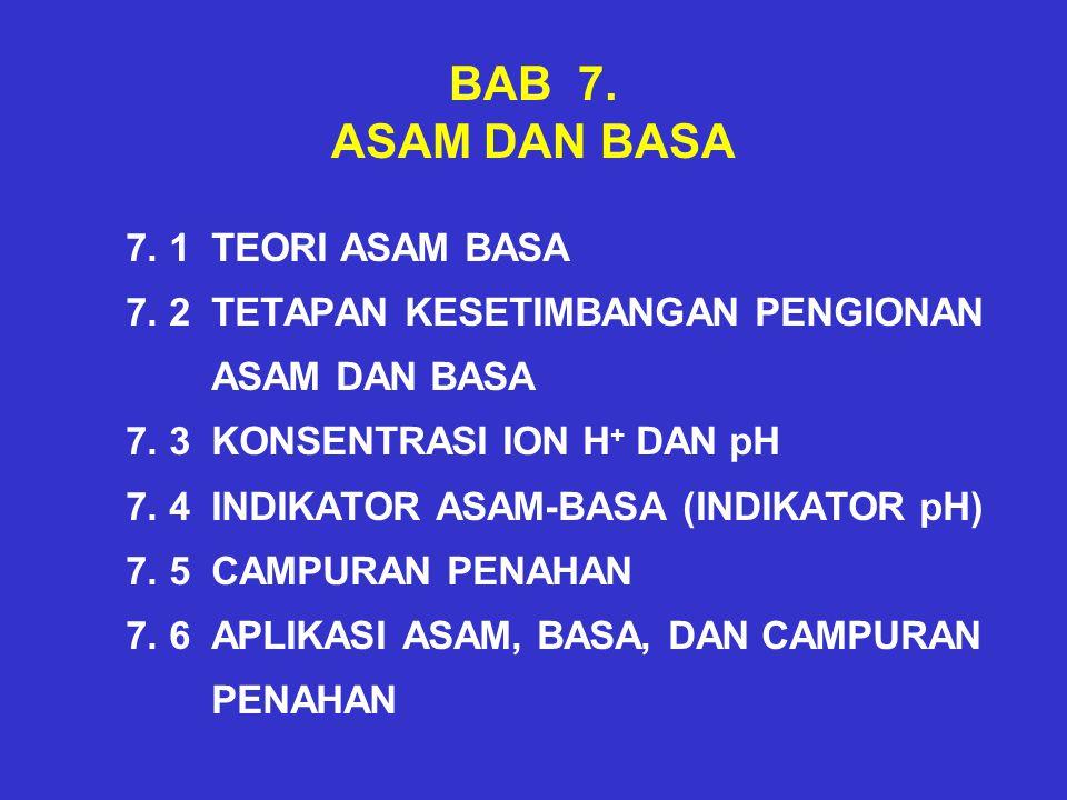 BAB 7. ASAM DAN BASA 7. 1 TEORI ASAM BASA