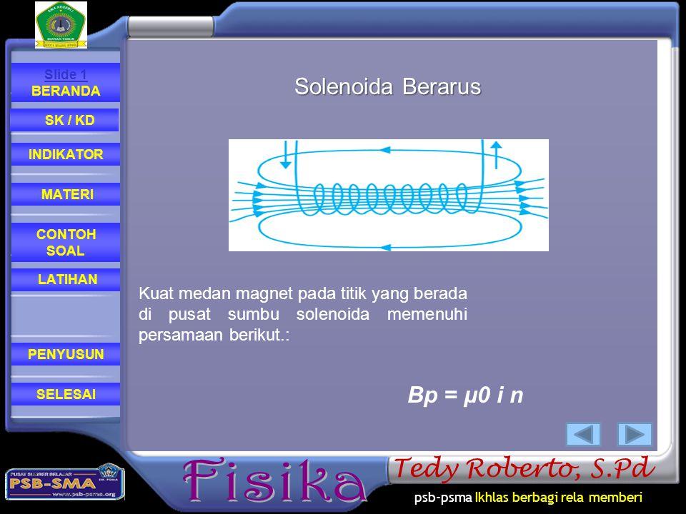 Solenoida Berarus Bp = μ0 i n
