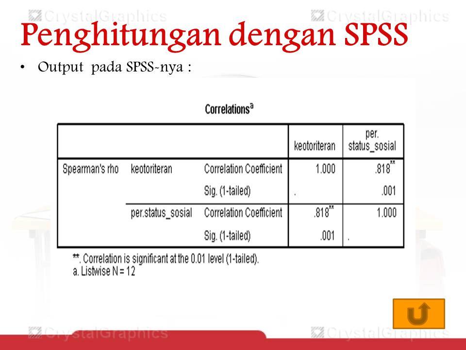 Penghitungan dengan SPSS