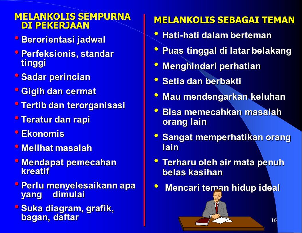 MELANKOLIS SEMPURNA DI PEKERJAAN