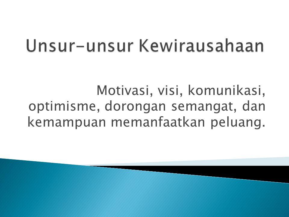 Unsur-unsur Kewirausahaan