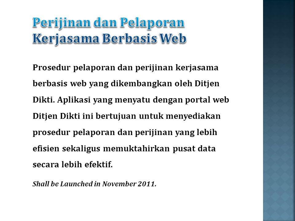 Perijinan dan Pelaporan Kerjasama Berbasis Web