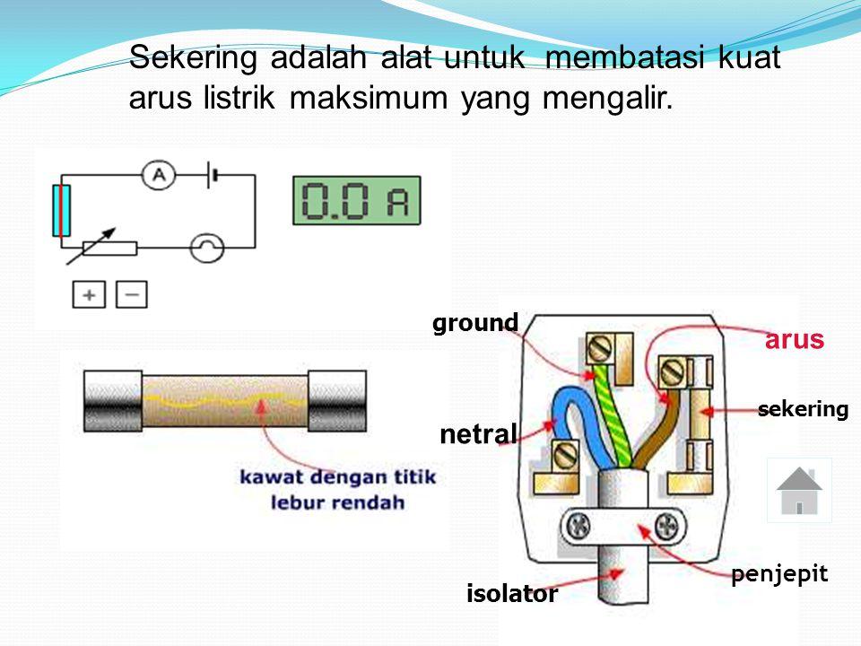 Sekering adalah alat untuk membatasi kuat arus listrik maksimum yang mengalir.