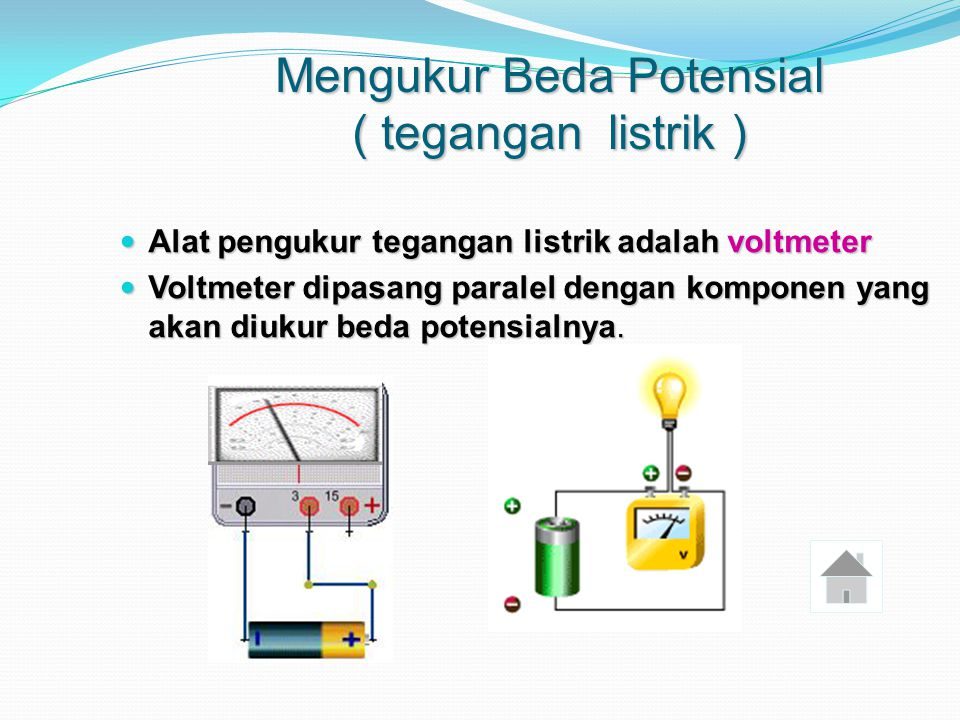 Mengukur Beda Potensial ( tegangan listrik )