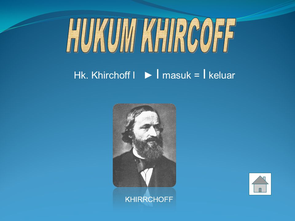 Hk. Khirchoff I ► I masuk = I keluar