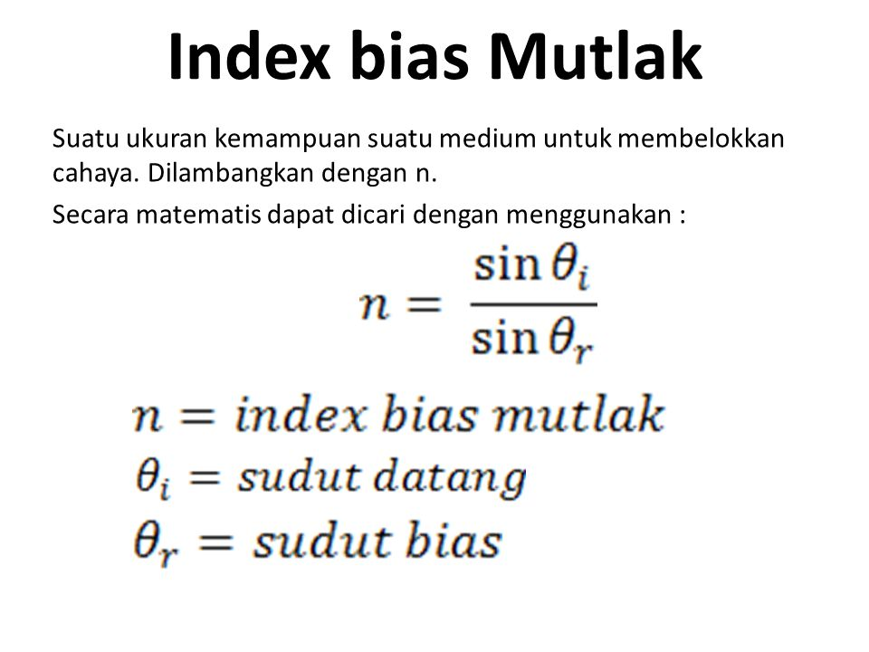 Index bias Mutlak