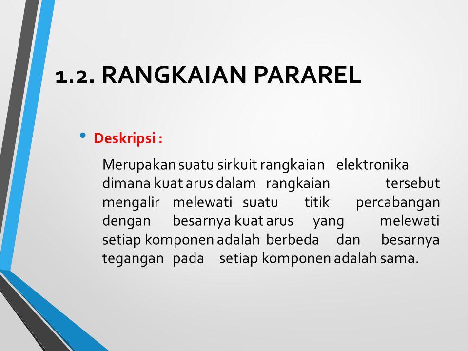 1.2. RANGKAIAN PARAREL Deskripsi :