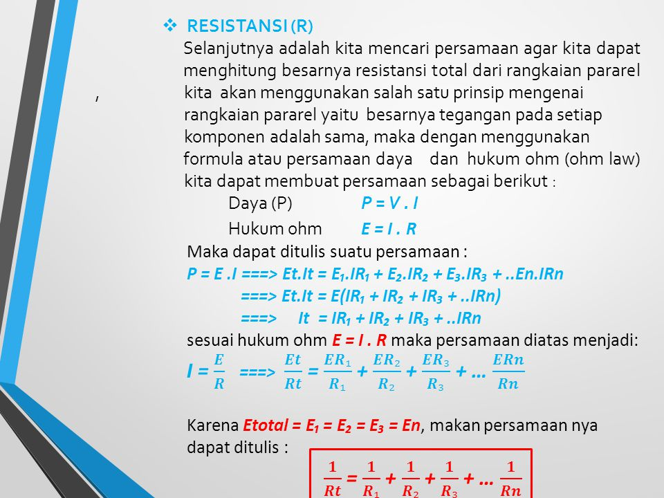 RESISTANSI (R)