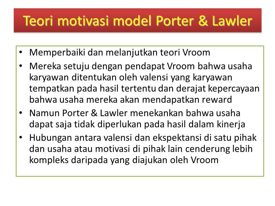 Teori motivasi model Porter & Lawler