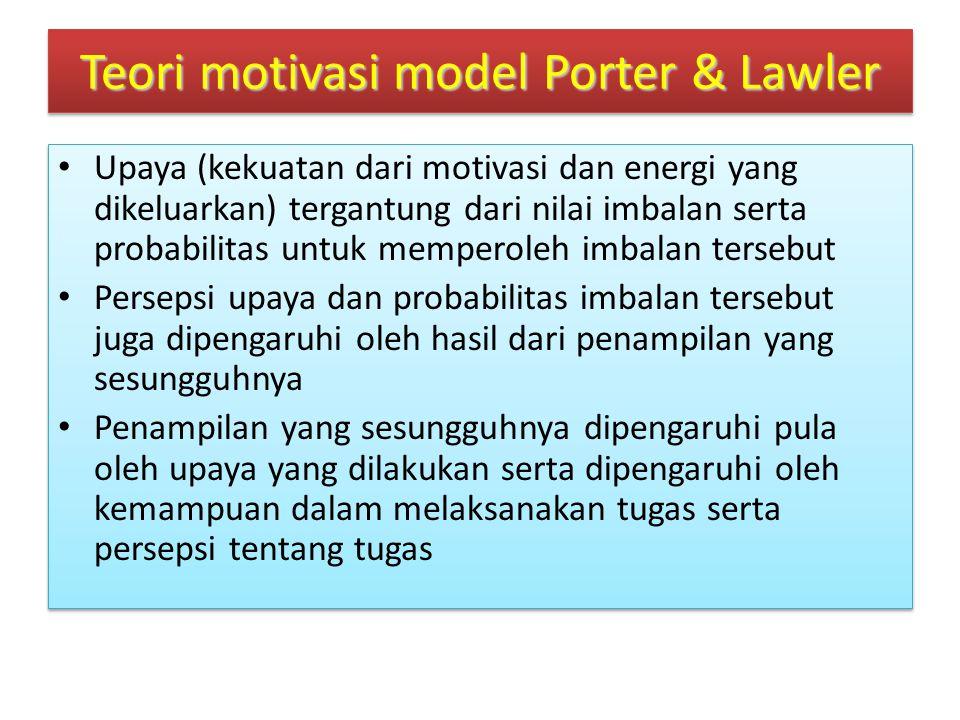 Teori motivasi model Porter & Lawler.....
