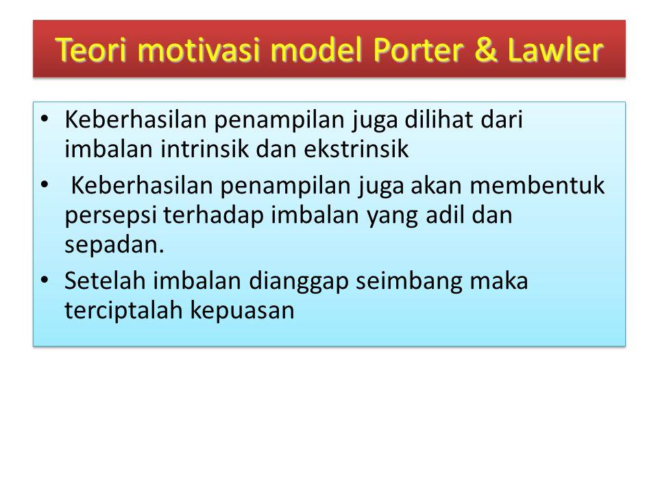Teori motivasi model Porter & Lawler....................