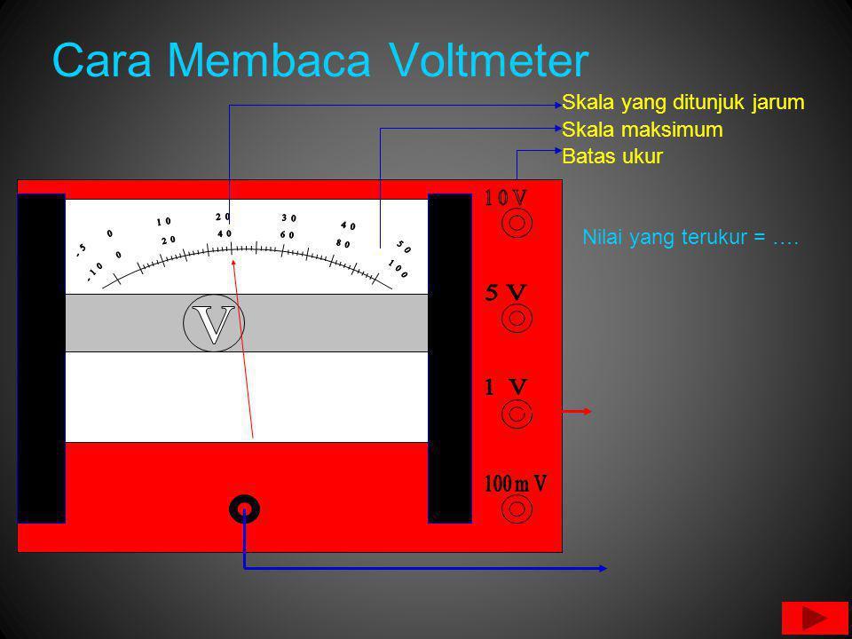 Cara Membaca Voltmeter