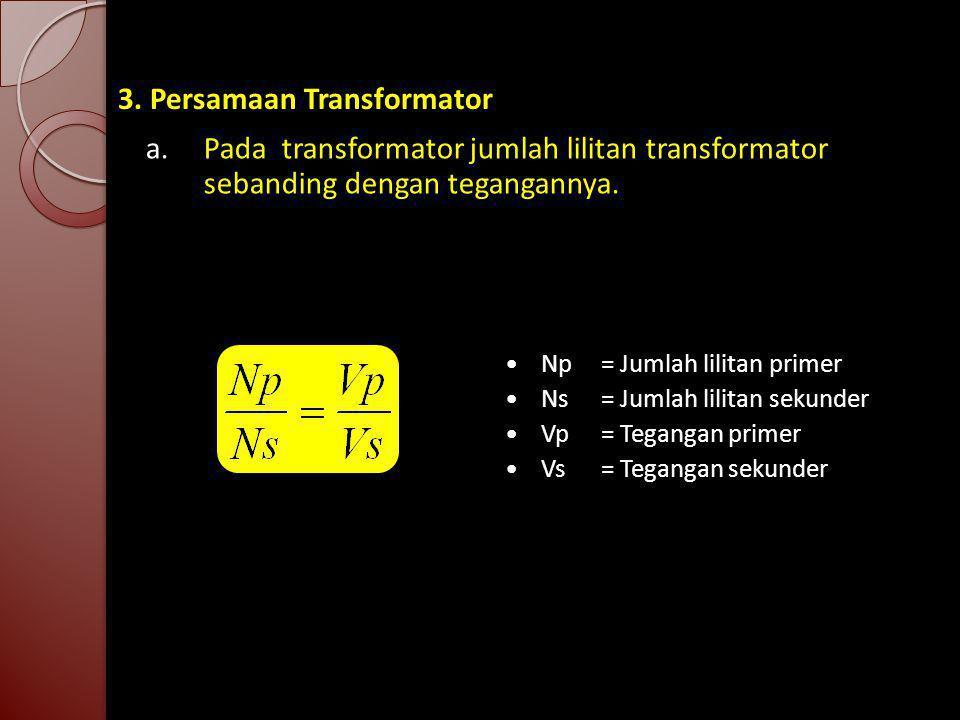 3. Persamaan Transformator