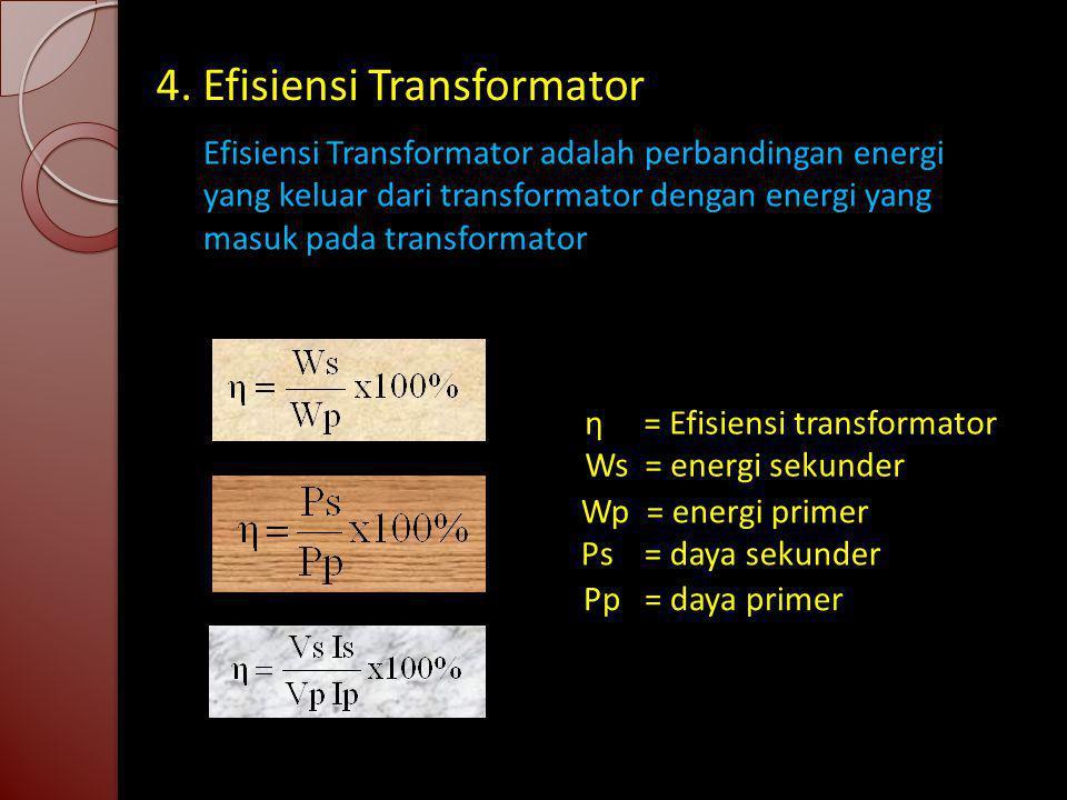 4. Efisiensi Transformator