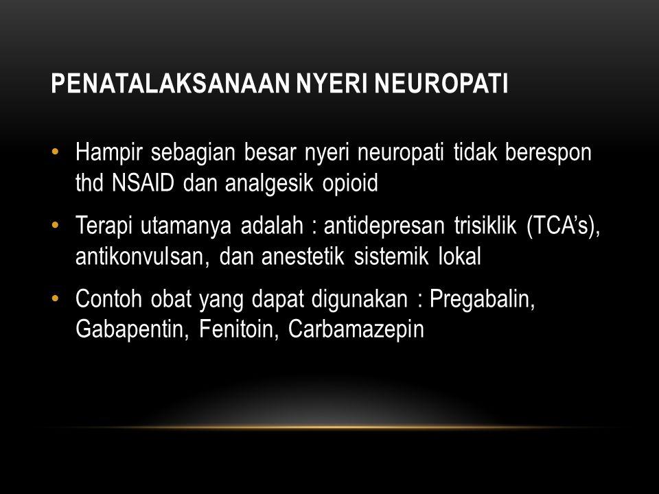 Penatalaksanaan nyeri neuropati