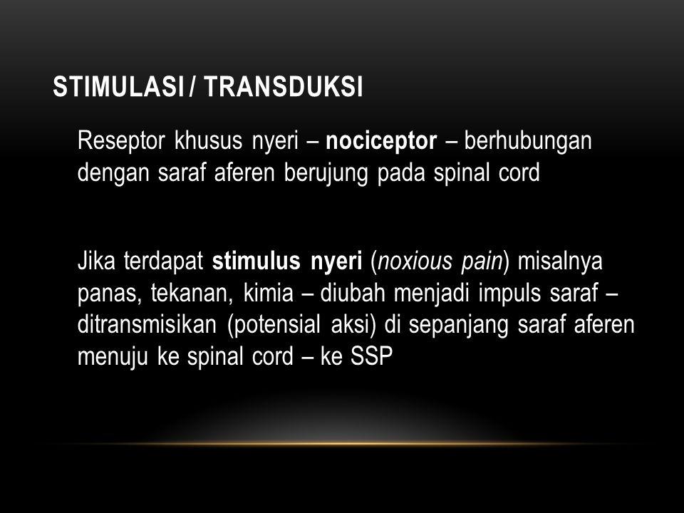 Stimulasi / Transduksi