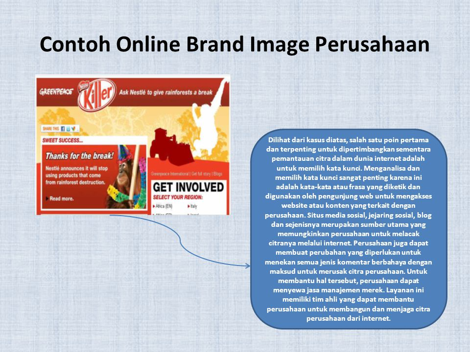 Contoh Online Brand Image Perusahaan