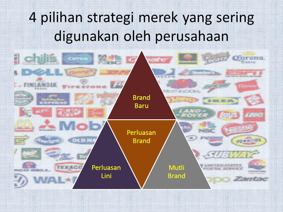 4 pilihan strategi merek yang sering digunakan oleh perusahaan