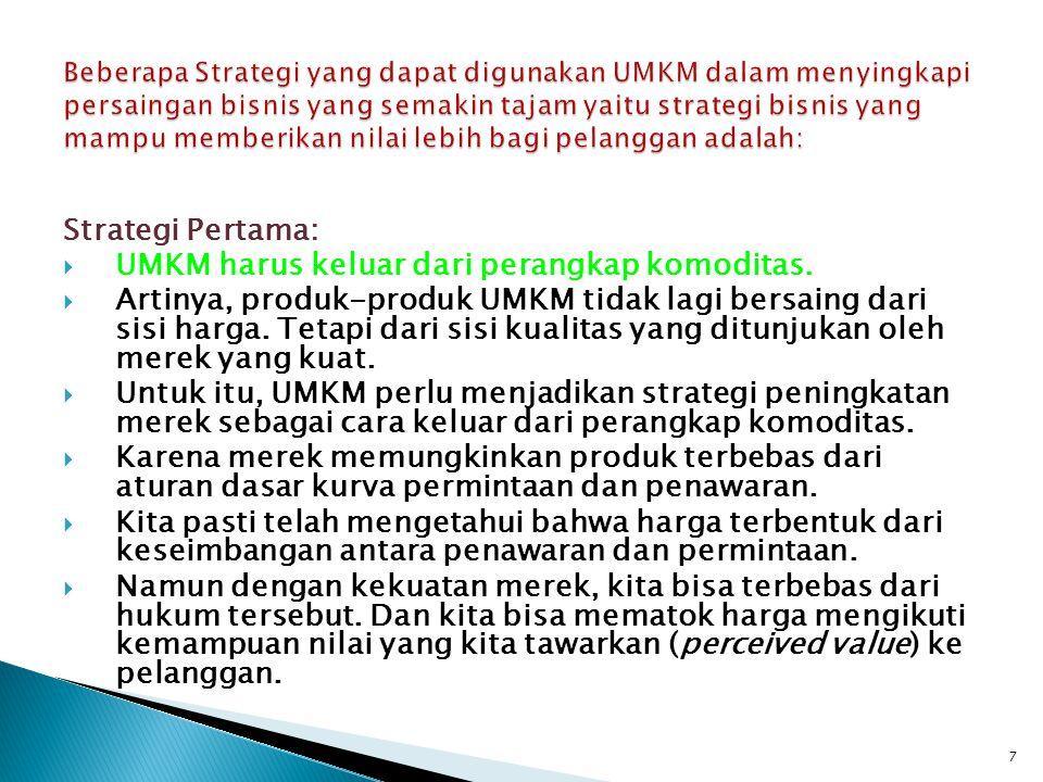 UMKM harus keluar dari perangkap komoditas.