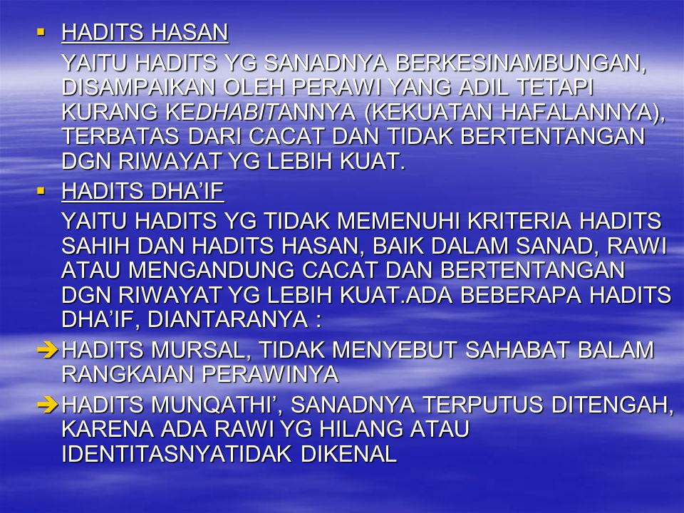 HADITS HASAN