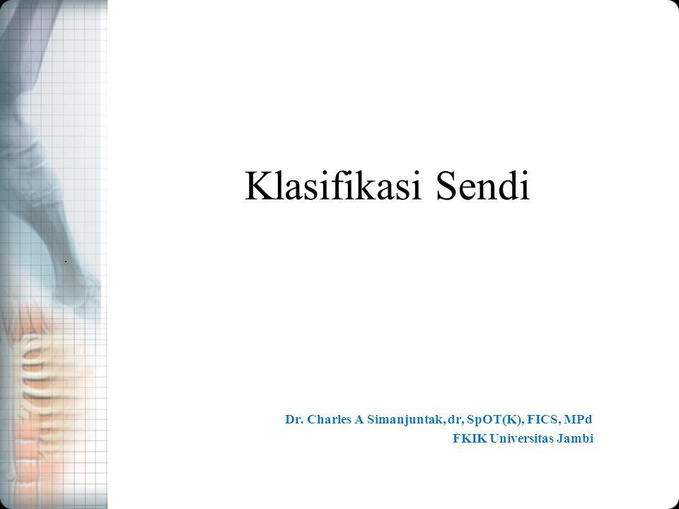 Dr. Charles A Simanjuntak, dr, SpOT(K), FICS, MPd