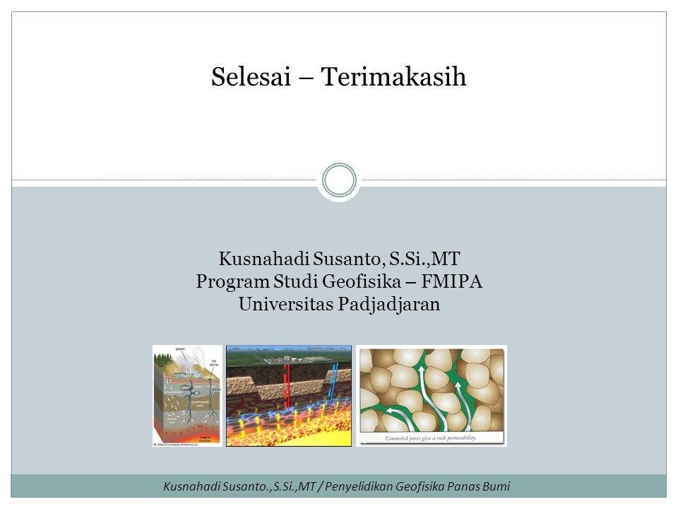 Selesai – Terimakasih Kusnahadi Susanto, S.Si.,MT