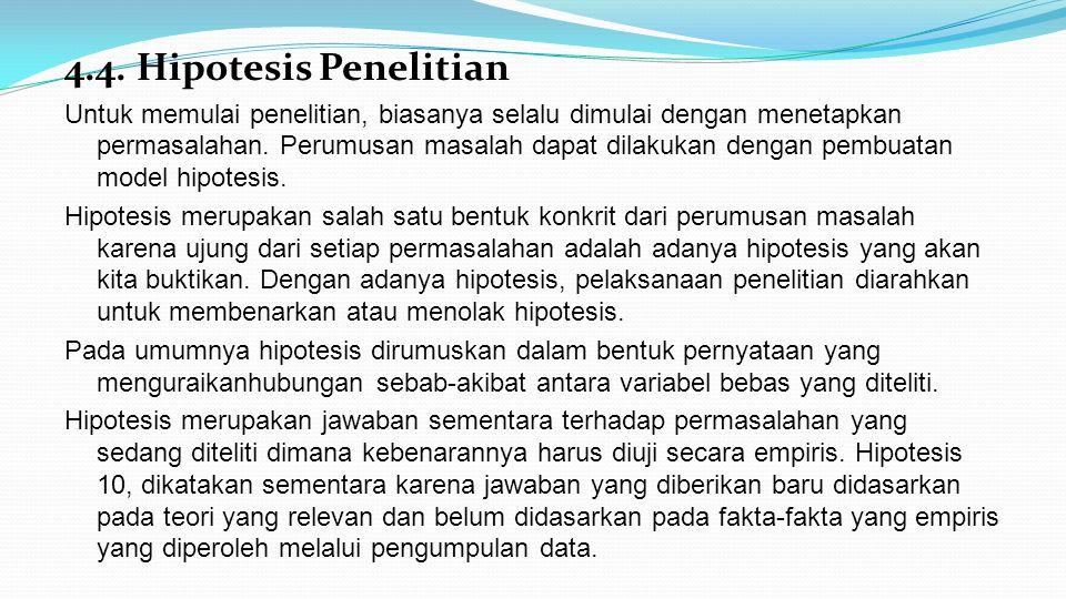 4.4. Hipotesis Penelitian