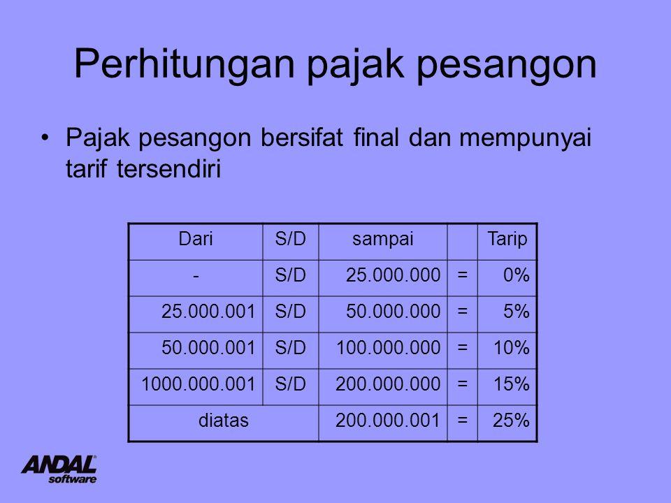 Perhitungan pajak pesangon