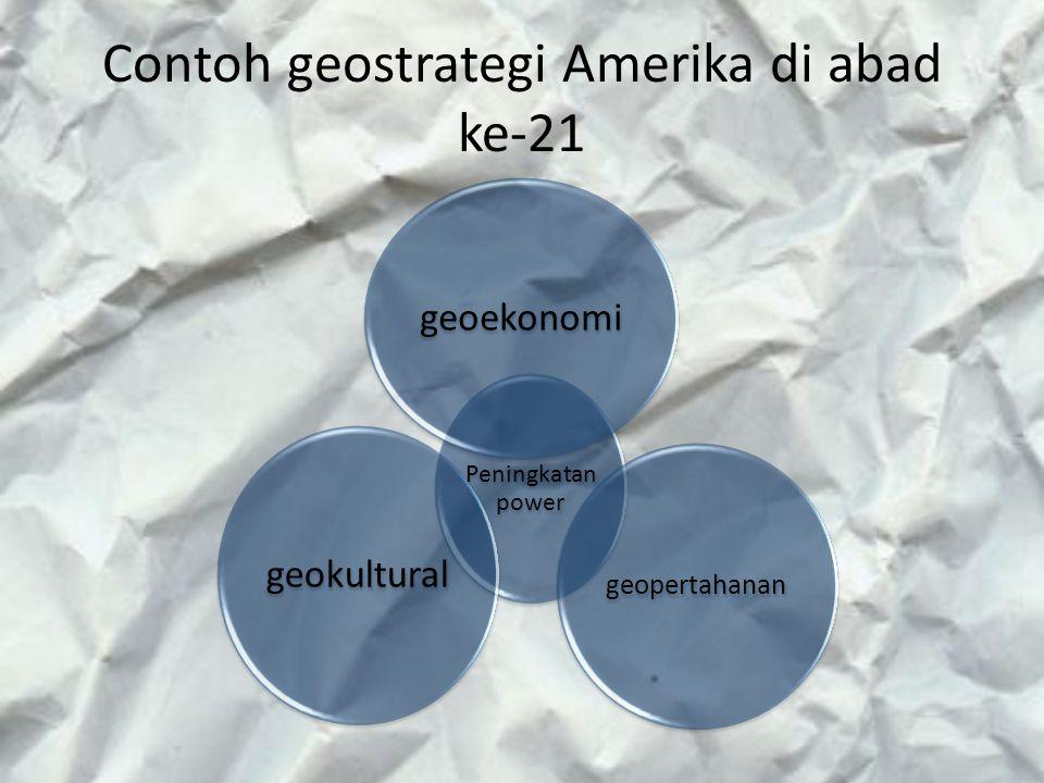 Contoh geostrategi Amerika di abad ke-21