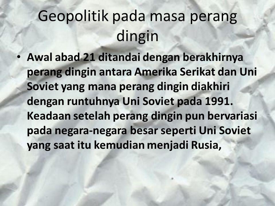 Geopolitik pada masa perang dingin