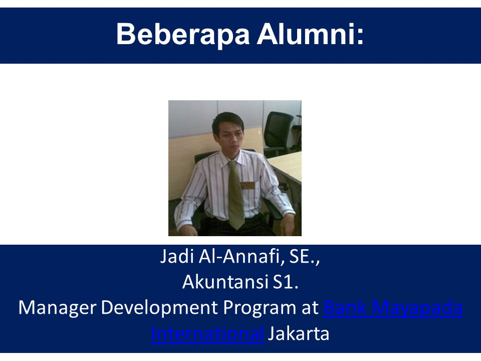 Manager Development Program at Bank Mayapada International Jakarta