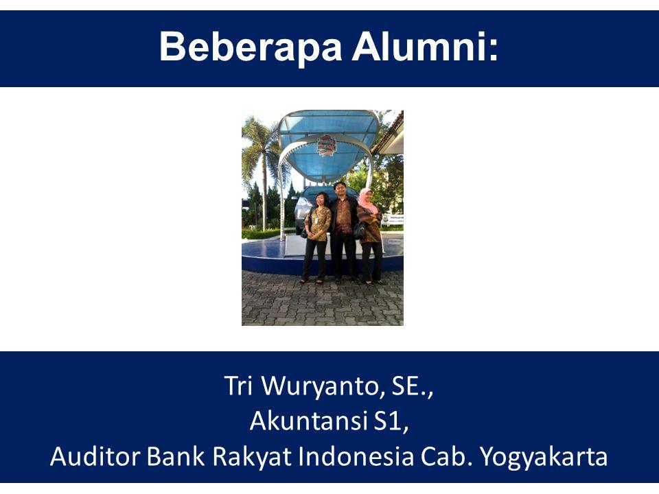 Auditor Bank Rakyat Indonesia Cab. Yogyakarta