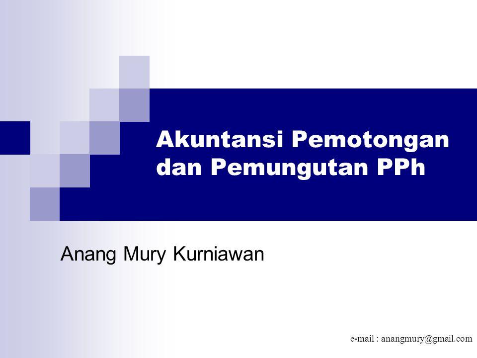 Akuntansi Pemotongan dan Pemungutan PPh