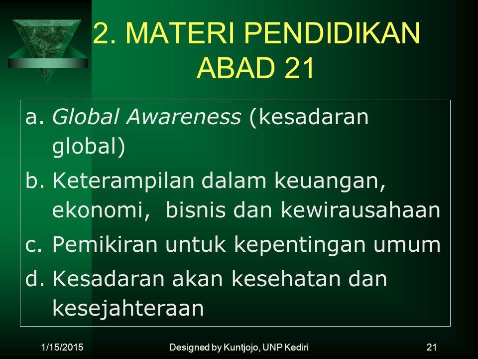 2. MATERI PENDIDIKAN ABAD 21