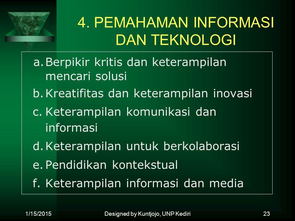 4. PEMAHAMAN INFORMASI DAN TEKNOLOGI