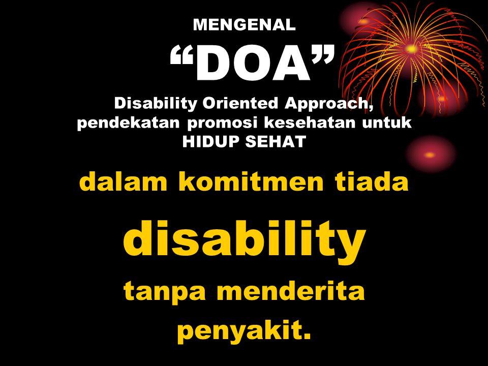 disability dalam komitmen tiada tanpa menderita penyakit.