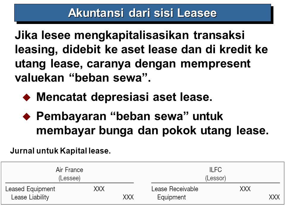 Akuntansi dari sisi Leasee