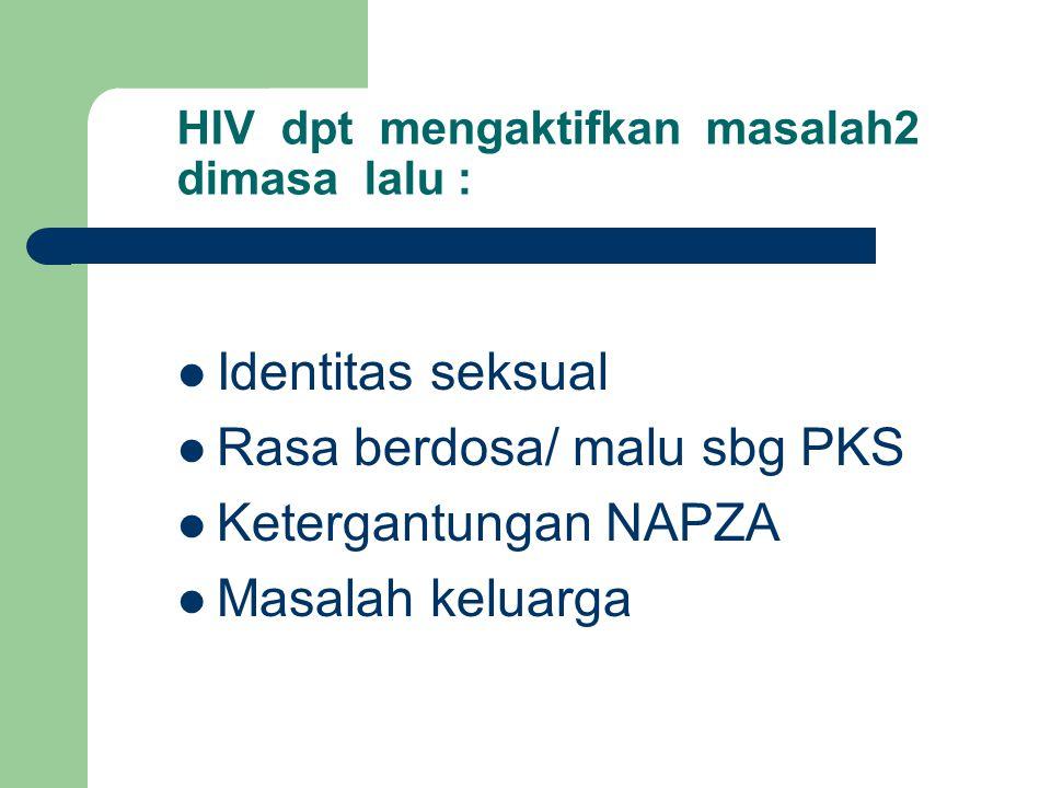 HIV dpt mengaktifkan masalah2 dimasa lalu :