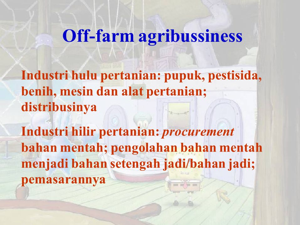 Off-farm agribussiness