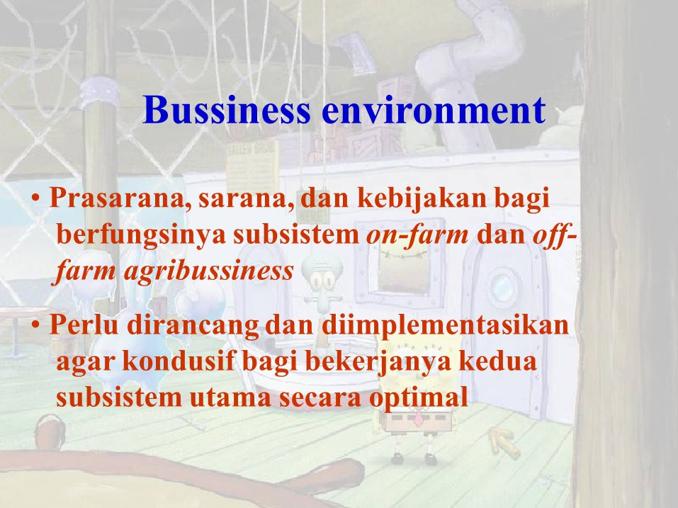 Bussiness environment