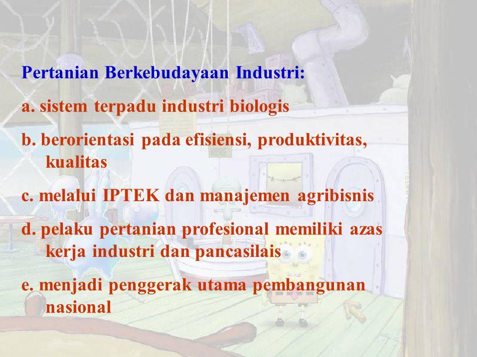 Pertanian Berkebudayaan Industri: