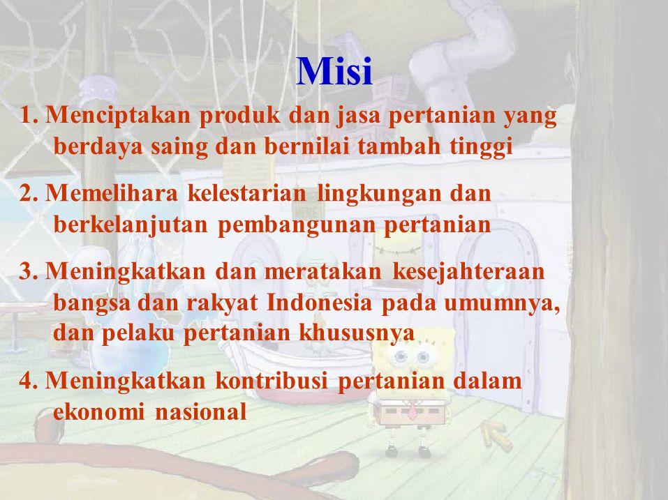 Misi 1. Menciptakan produk dan jasa pertanian yang