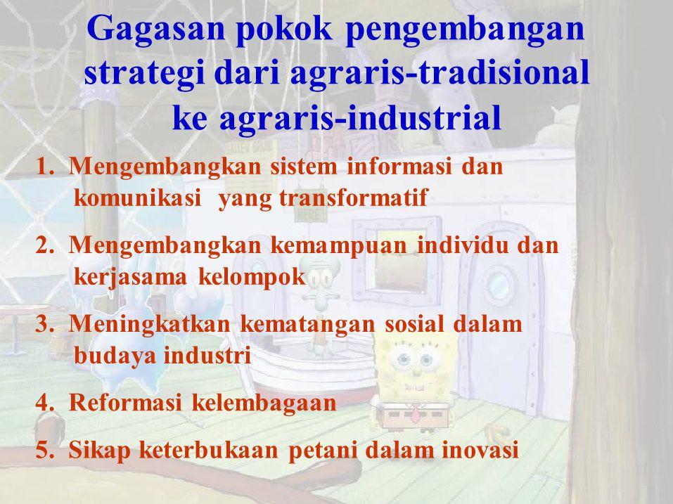 strategi dari agraris-tradisional
