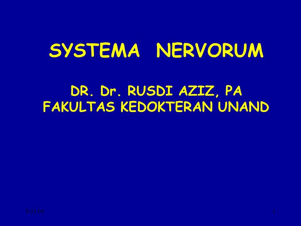 DR. Dr. RUSDI AZIZ, PA FAKULTAS KEDOKTERAN UNAND