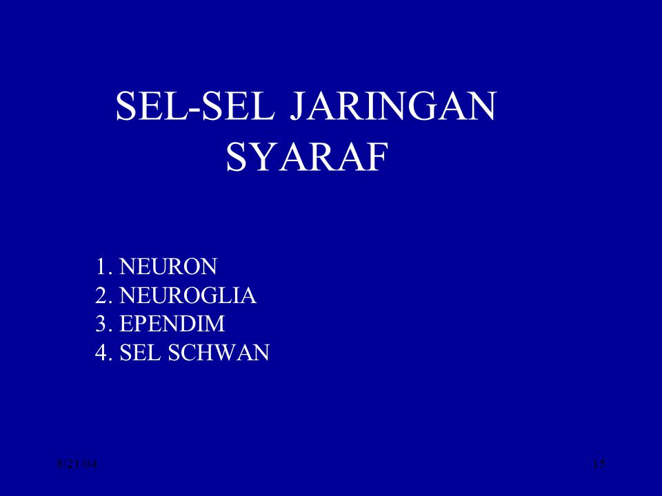 SEL-SEL JARINGAN SYARAF