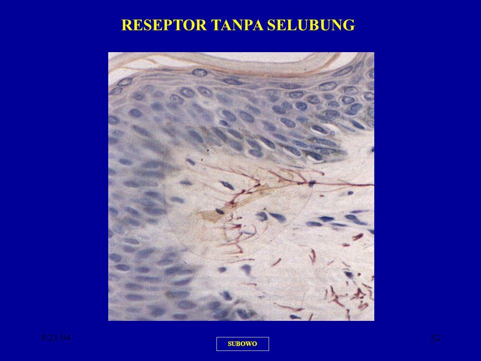 RESEPTOR TANPA SELUBUNG
