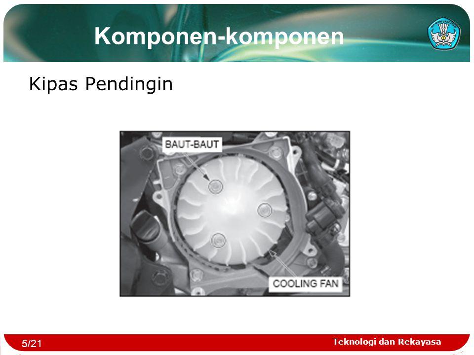 Komponen-komponen Kipas Pendingin 5/21 Teknologi dan Rekayasa