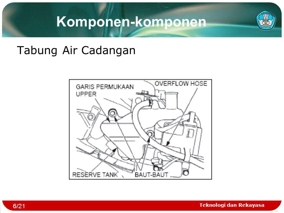 Komponen-komponen Tabung Air Cadangan 6/21 Teknologi dan Rekayasa